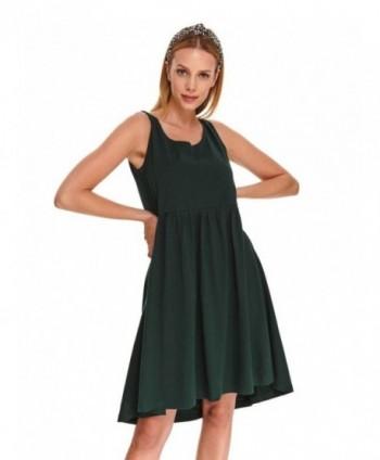Rochie verde fara maneci...