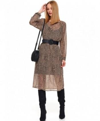 Rochie maro cu print...