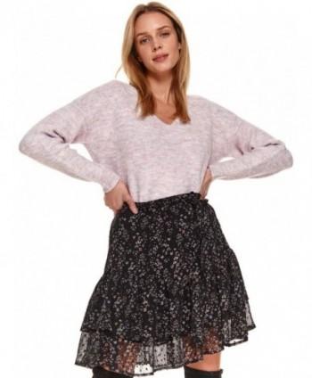 Pulover roz tricotat SSW3042