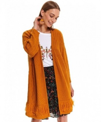 Cardigan tricotat camel...