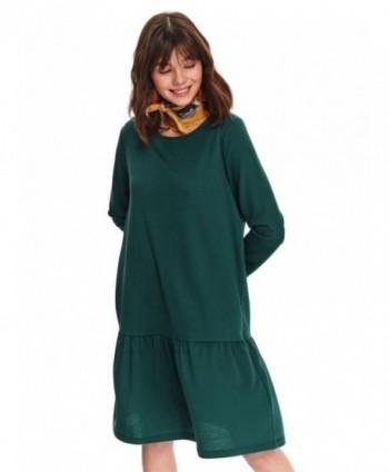 Rochie verde cu volan Top...
