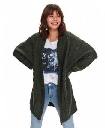 Cardigan tricotat verde...