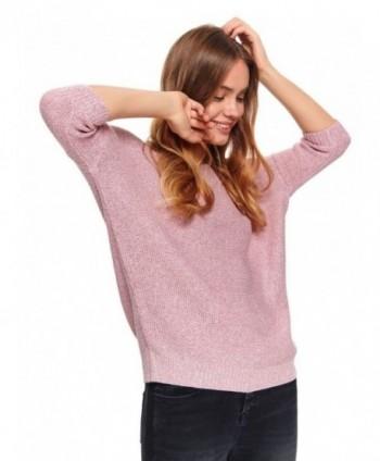 Pulover roz cu maneca...
