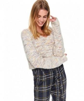 Pulover beige tricotat SSW2830