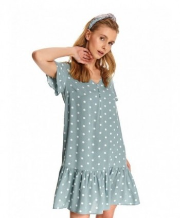 Rochie bleu cu buline Top...