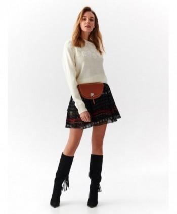 Pulover alb tricotat SSW2810