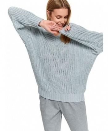 Pulover gri tricotat SSW2793