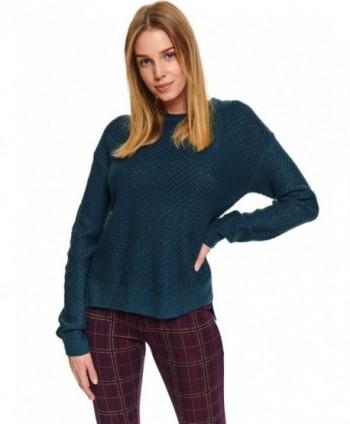 Pulover turcoaz tricotat...
