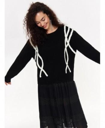 Pulover negru tricotat SSW2471