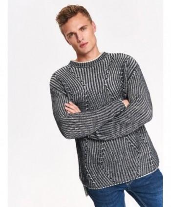 Pulover gri tricotat SSW2429