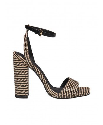 Sandale negre cu toc  SBU0757