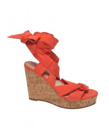 Sandale portocalii cu...