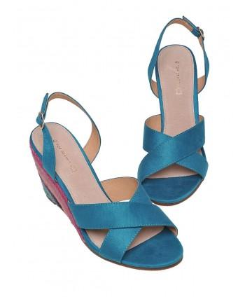 Sandale albastre cu talpa...