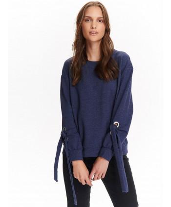 Bluza bleumarin cu siret la...