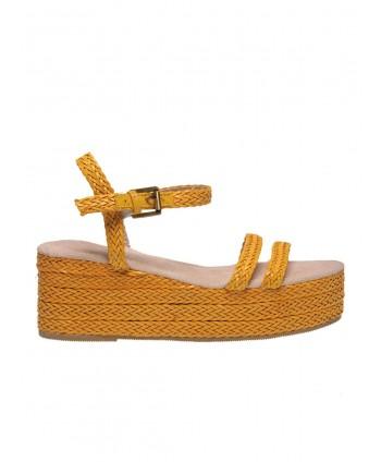 Sandale galbene cu...