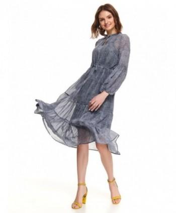 Rochie albastra din voal...