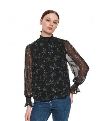 Bluza neagra din voal SBD1290