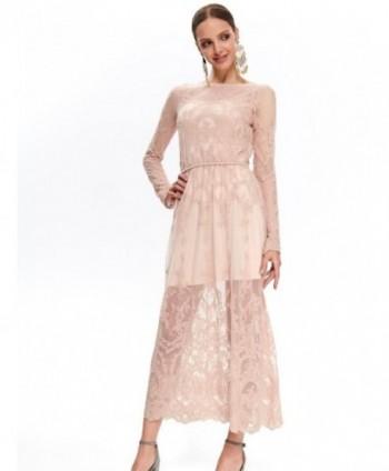 Rochie lunga roz din...