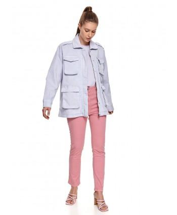 Jacheta lila cu buzunare si...