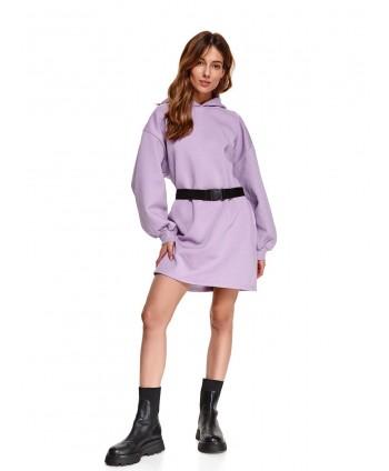 Rochie violet stil hanorac...