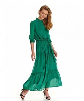 Rochie lunga verde cu...