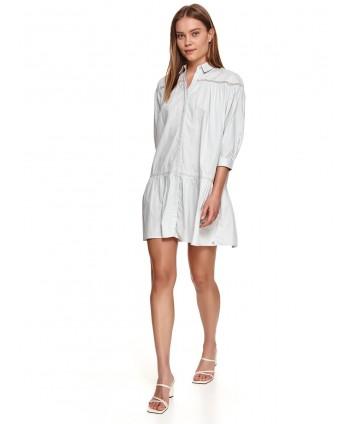 Rochie alba stil camasa cu...