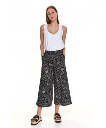 Pantaloni 3/4 bleumarin cu...