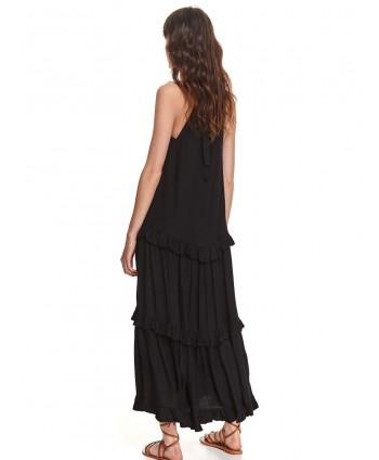 Rochie lunga neagra cu...