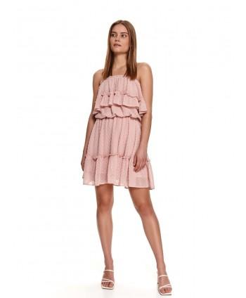 Rochie roz cu bretele si...