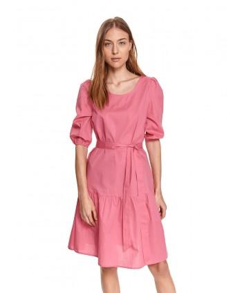 Rochie roz cu cordon SSU3491