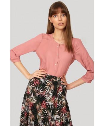 Bluza roz cu maneca 3/4 BLK026