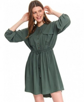 Rochie verde cu snur in...