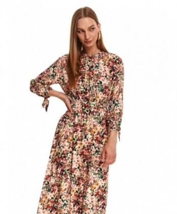 Rochie lunga multicolor cu...