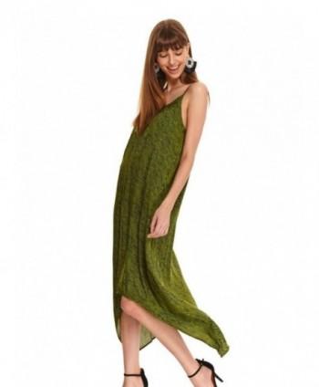 Rochie verde cu bretele si...