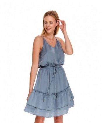 Rochie albastra cu bretele...