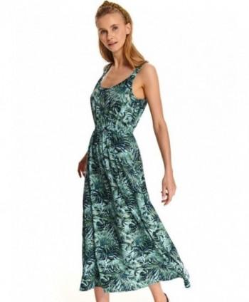 Rochie verde cu print...