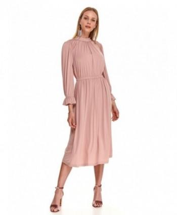 Rochie midi roz cu elastic...