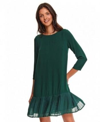 Rochie verde cu volan...