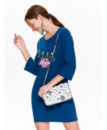 Rochie albastra cu broderie...