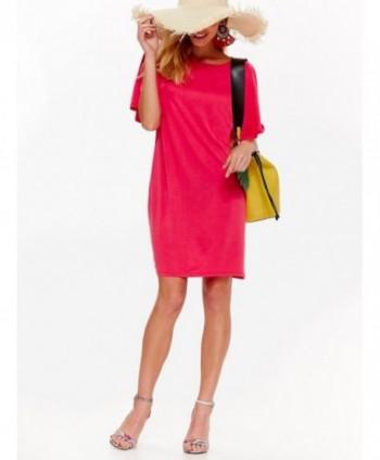 Rochie roz cu maneca larga...