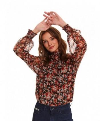 Bluza rosie cu flori Top...