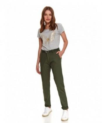 Pantaloni verzi cu curea...