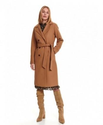 Palton camel cu cordon SPZ0579