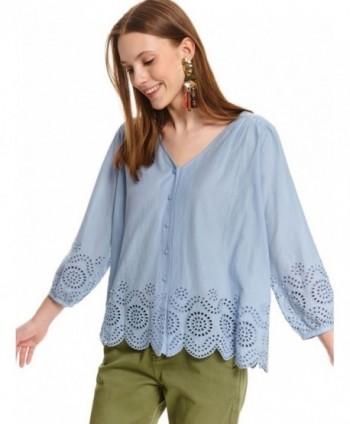 Bluza bleu cu nasturi SKL3057