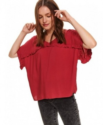Bluza rosie cu maneca...