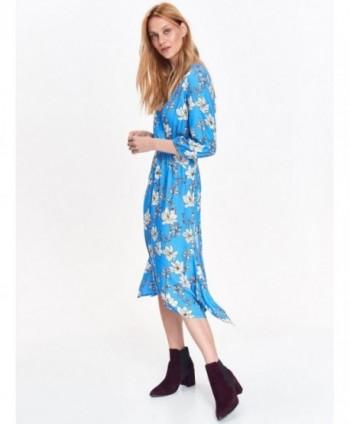 Rochie albastra cu flori...