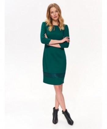 Rochie verde cu maneca 3/4...