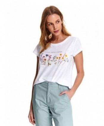 Tricou alb cu imprimeu DPO0355