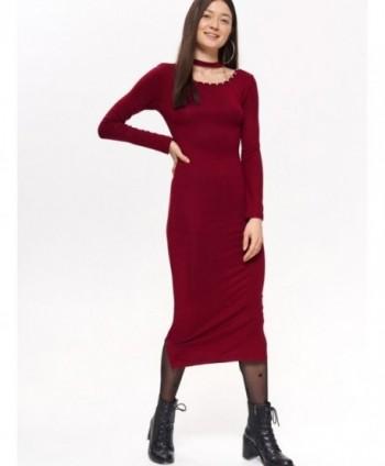 Rochie rosie tricotata Top...