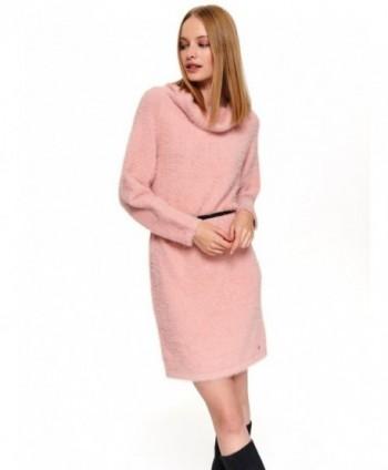 Rochie tricotata roz  STU0167